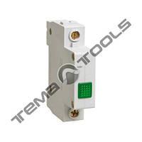 Модульная сигнальная лампа ЛСН зеленая на DIN-рейку