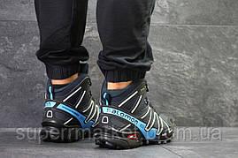 Ботинки Salomon Speedcross 3 темно-синие. Код 6488, фото 2