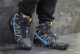 Ботинки Salomon Speedcross 3 темно-синие. Код 6488, фото 3