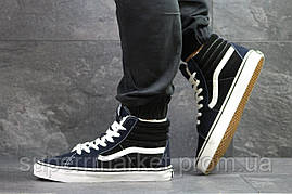 Ботинки Vans темно-синие с черным  зима , код6494, фото 2