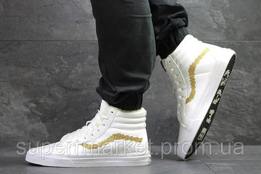 Ботинки Vans белые  зима , код6496, фото 2