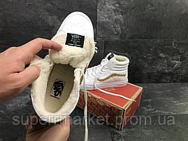 Ботинки Vans белые  зима , код6496, фото 3