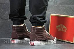 Ботинки Vans коричневые  зима , код6497, фото 3