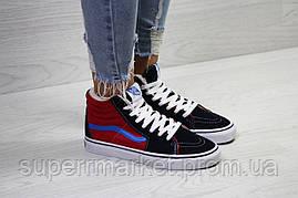 Ботинки Vans темно-синие с красным (зима). Код 6499, фото 3