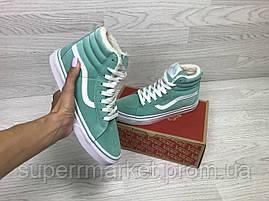 Ботинки Vans мятные (зима). Код 6506, фото 3