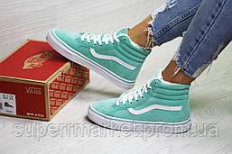 Ботинки Vans мятные (зима). Код 6506, фото 2