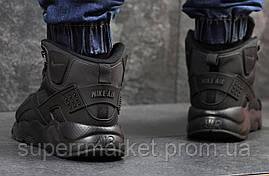 Кроссовки Nike Huarache черные  зима , код6508, фото 2