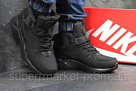 Кроссовки Nike Huarache черные  зима , код6508, фото 3