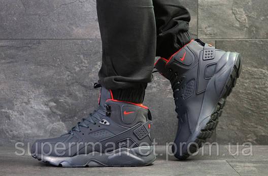 Кроссовки Nike Huarache темно-синие  зима , код6510, фото 2