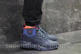 Кроссовки Nike Huarache темно-синие  зима , код6510, фото 3