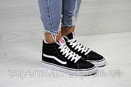 Ботинки Vans черные с белым (зима). Код 6513, фото 3