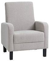 Кресло мягкое тканевое песочное, фото 1