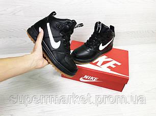 Кроссовки Nike Air Force LF-1 черные с белым (зима). Код 6658, фото 2