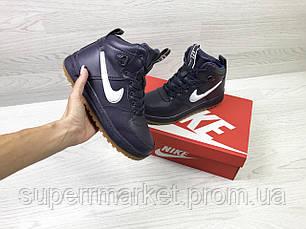 Кроссовки Nike Air Force LF-1 фиолетовые (зима). Код 6659, фото 3