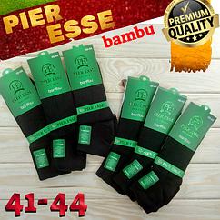 Мужские носки деми бес шва с запахом PIER ESSE Турция бамбук 40-44р средние чёрные  НМД-051020