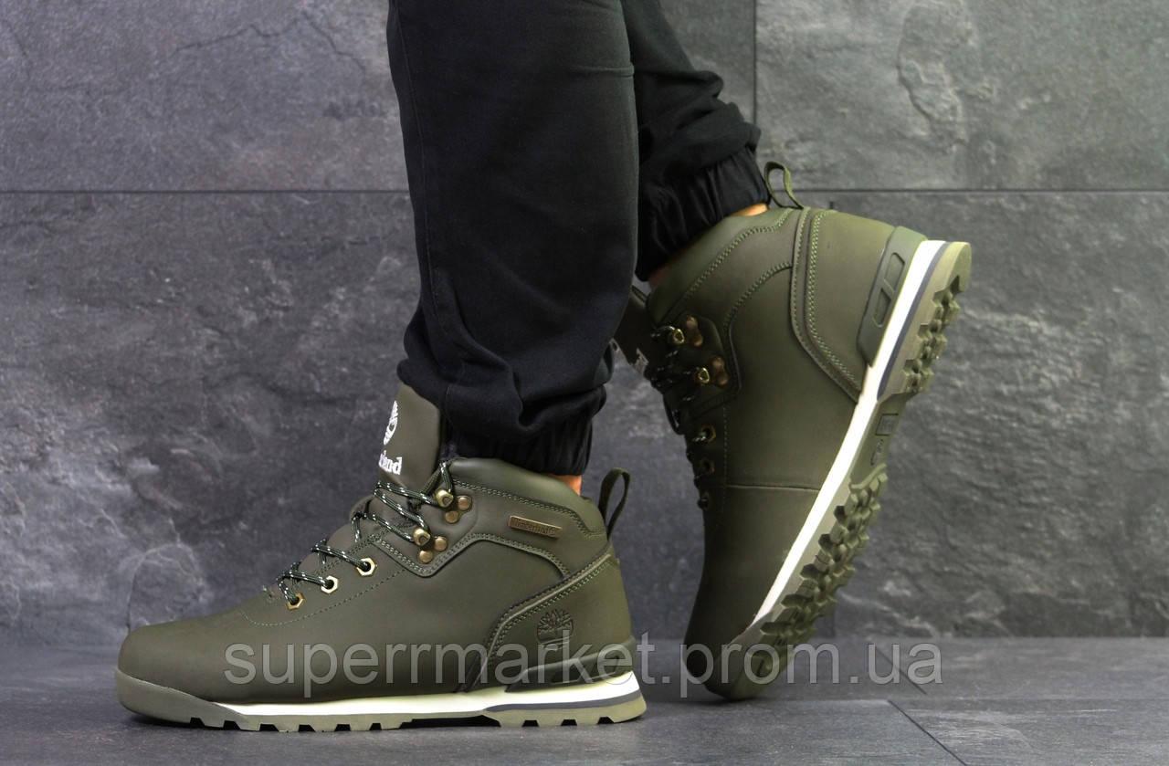 Кроссовки Timberland, зеленые  зима , код6635