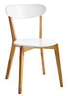 Стілець дерев'яний білий стильний (ніжки масив), фото 1
