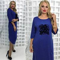 Женское платье широкого фасона, с 56-62 размер, фото 1