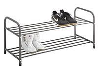 Полка для обуви металлическая на 2 полки черная, фото 1
