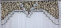 Ламбрекен из плотной ткани на карниз 2м. Код 124л044 У