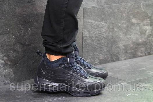Кроссовки Nike Air Max 95 темно-синие  зима , код6694, фото 2