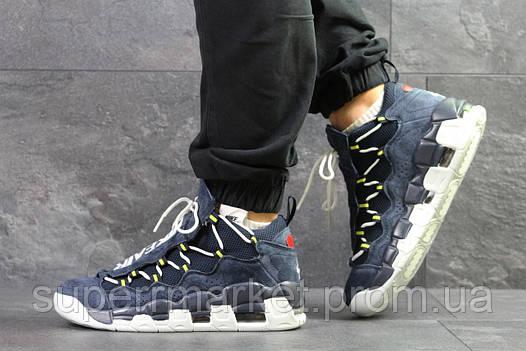 Кроссовки Nike Air Uptempo 96 темно-синие с серым, код6714, фото 2