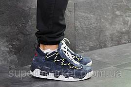 Кроссовки Nike Air Uptempo 96 темно-синие с серым, код6714, фото 3