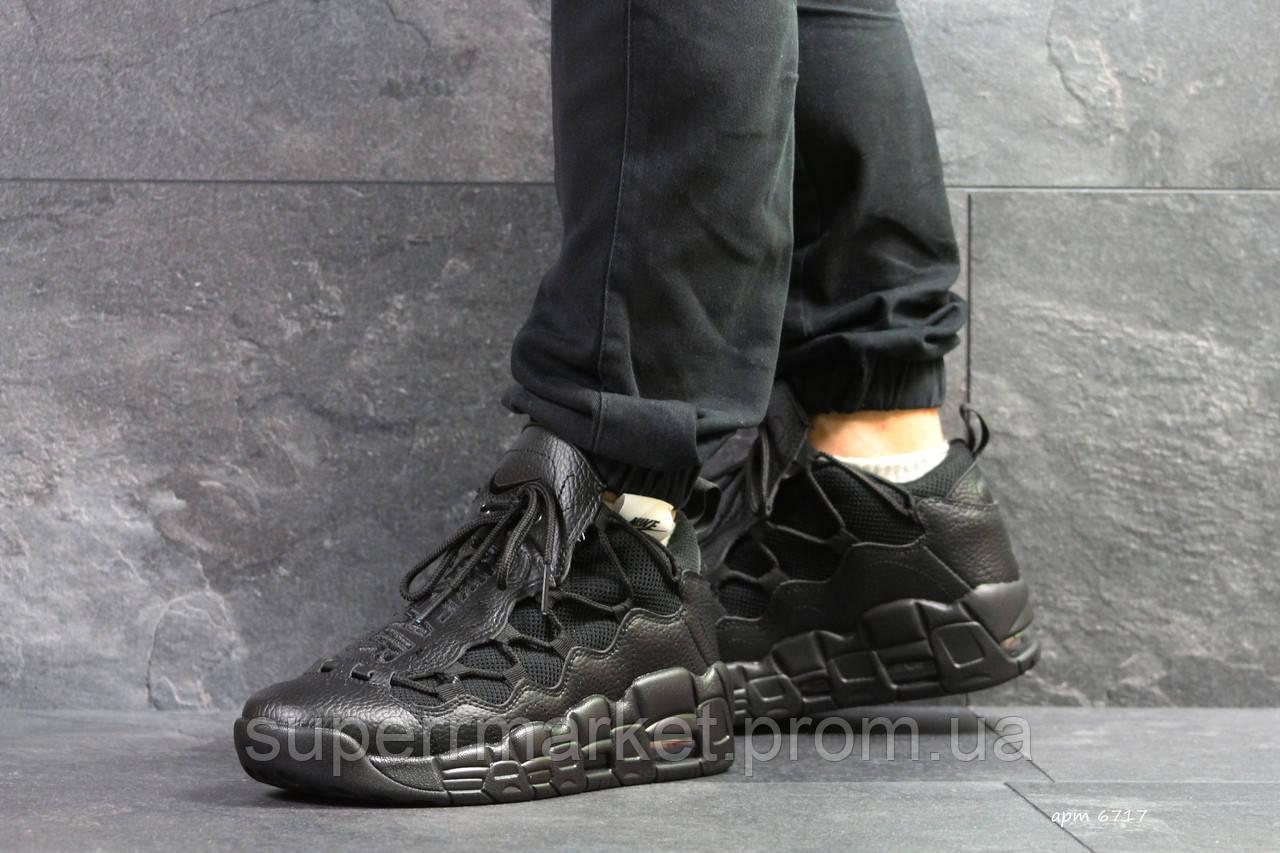 Кроссовки  Nike Air Uptempo 96 черные кожа, код6717