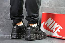 Кроссовки  Nike Air Uptempo 96 черные кожа, код6717, фото 2