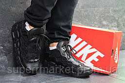 Кроссовки  Nike Air Uptempo 96 черные кожа, код6717, фото 3