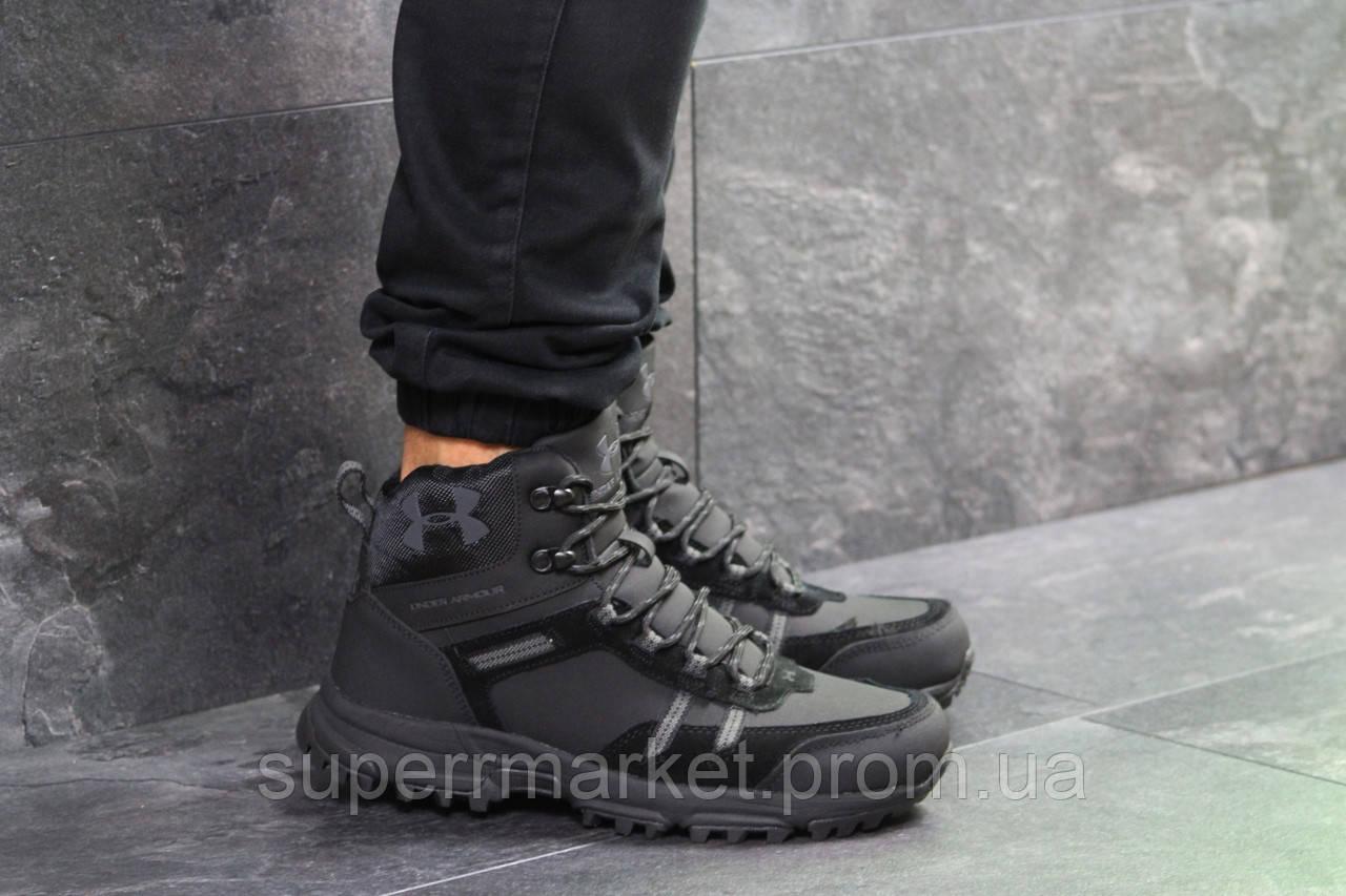 Ботинки Under Armour, черные  зима , код6722