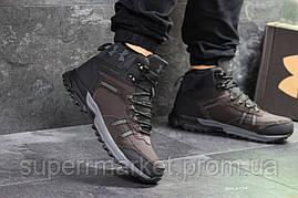 Ботинки Under Armour, коричневые с черным  (зима). Код 6724, фото 2
