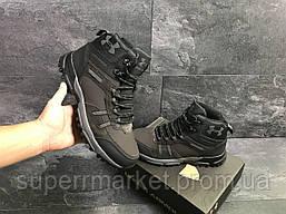 Ботинки Under Armour, коричневые с черным  (зима). Код 6724, фото 3