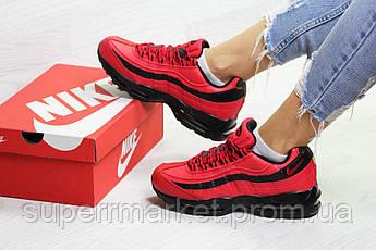 Кроссовки Nike 95 красные (зима). Код 6736, фото 3