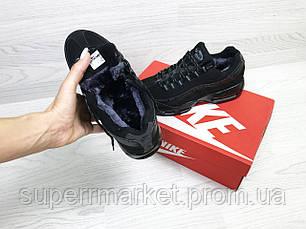 Кроссовки Nike 95 черные (зима). Код 6739, фото 3
