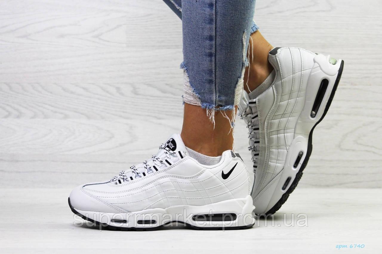 Кроссовки Nike 95 белые (зима). Код 6740