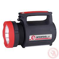 LED фонарь аккумуляторный (солнечная панель, USB) INTERTOOL LB-0105