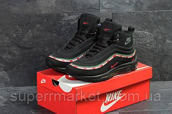 Кроссовки Nike Air Max 97 черные с красным зеленым , код6816, фото 2