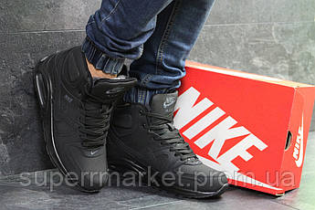 Кроссовки Nike Air Max 90 черный нубук  зима , код6856, фото 2
