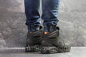 Кроссовки Nike Air Max 90 черный нубук  зима , код6856, фото 3
