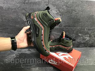 Кроссовки Nike Air Max 97 зеленые  зима , код6846, фото 3