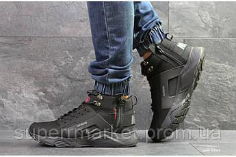 Кроссовки Nike Huarache черные  зима , код6838, фото 2