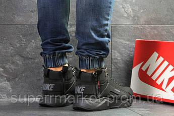 Кроссовки Nike Huarache черные  зима , код6838, фото 3