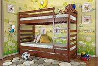 Кровать детская двухъярусная трансформер Рио из натурального дерева, фото 1