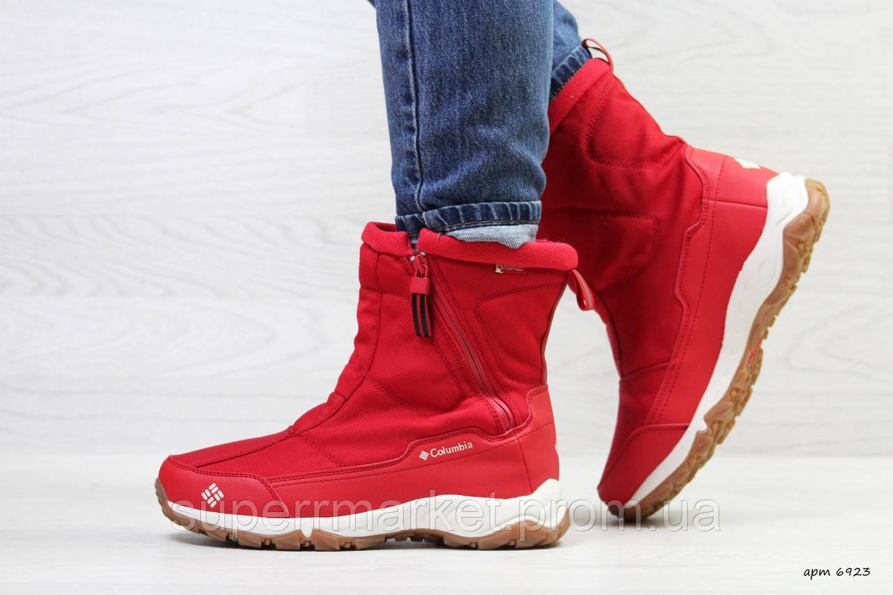 Ботинки Columbia красные (зима). Код 6923