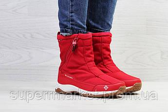 Ботинки Columbia красные (зима). Код 6923, фото 2