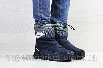 Ботинки Nike темно-синие с серым (зима). Код 6916, фото 3