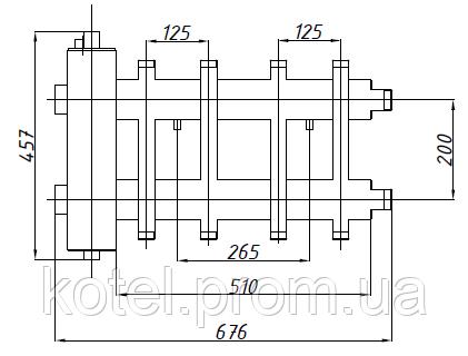 Схема коллектора СК 282.125 с гидрострелкой СК-26