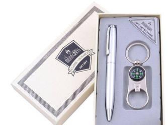 Подарочный набор Брелок (Открывалка, компас), Ручка №BB115