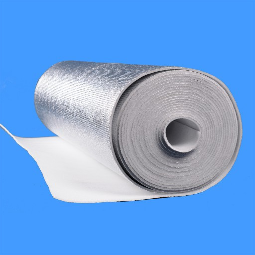 Полотно ППЭ пенополиэтилен, т. 2 мм, метализированое РЕТ, TERMOIZOL®, рулон 50 м. п.